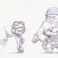 Chomp Trooper Sketches