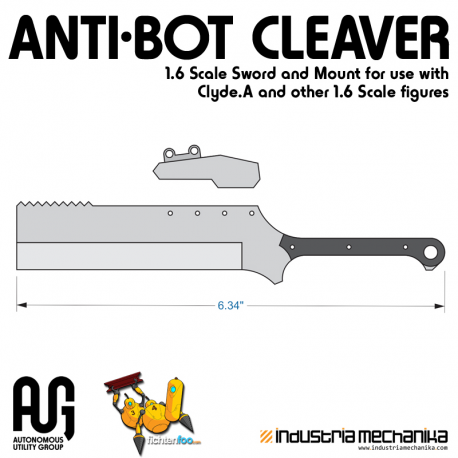 AUG Anti-Bot Cleaver 1/6 Sword