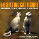 1/6 Scale Sitting Cat Figure