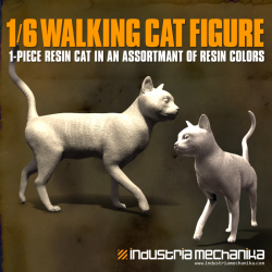 1/6 Scale Walking Cat Figure