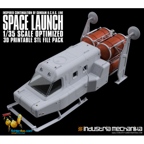 UCHG Style Space Launch (3D PRINT FILES ONLY)