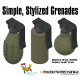 Simple Grenades (3D PRINT FILES ONLY)