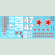 Red Star 47 Extra Decal Set
