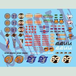 T-Zero Extra Racing Decal Sheet