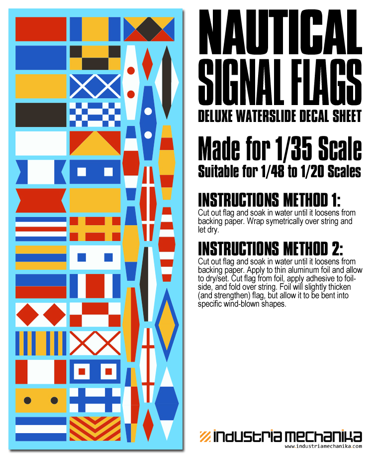 international nautical signal flag waterslide decals