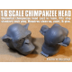 1/6 Scale Chimpanzee Head