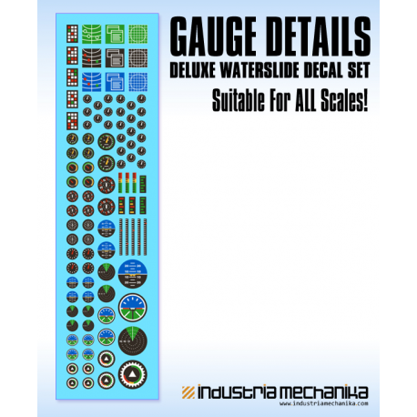Gauges and Screens Decal Set