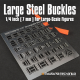 Large Steel Photoetch Buckle Set